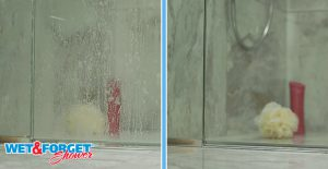 Apply Wet & Forget weekly to clean your shower.