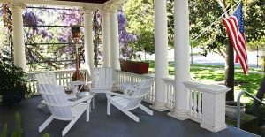 Clean up green and black stains on your patio furniture with Wet & Forget!