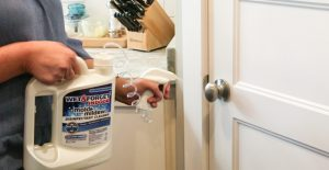 Easily disinfect door knobs during cold and flu season with Wet & Forget Indoor
