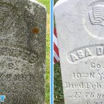 Wet & Forget will gently clean a headstone