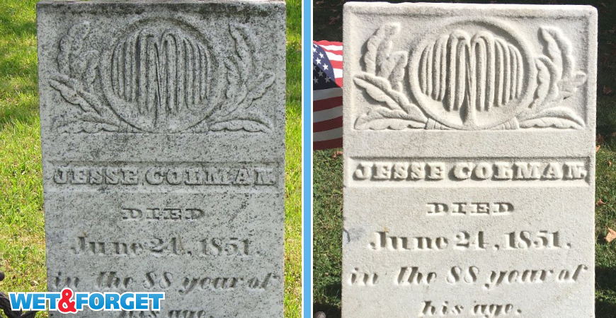 Discover how to clean a headstone with Wet & Forget