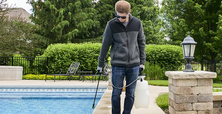 Clean your concrete pool deck with Wet & Forget