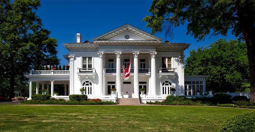 Colonial style front porch