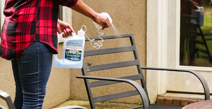 Clean Outdoor Furniture with Wet & Forget Ready-to-Use!