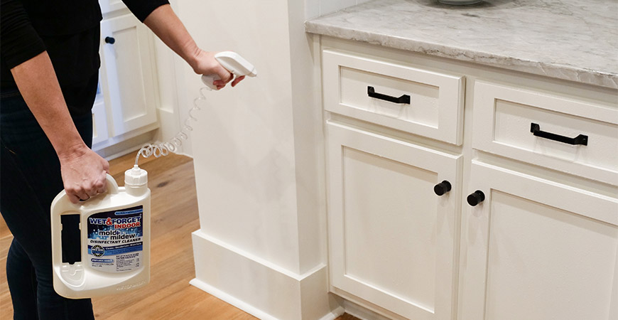 Disinfect your cabinets and drawers