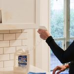 Disinfect your kitchen cabinets