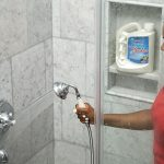 cleaning natural stone shower