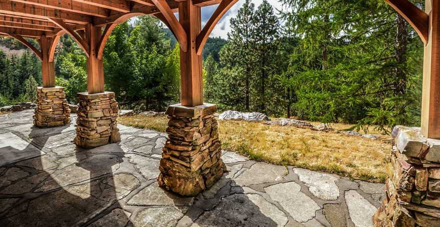 how to clean outdoor stone
