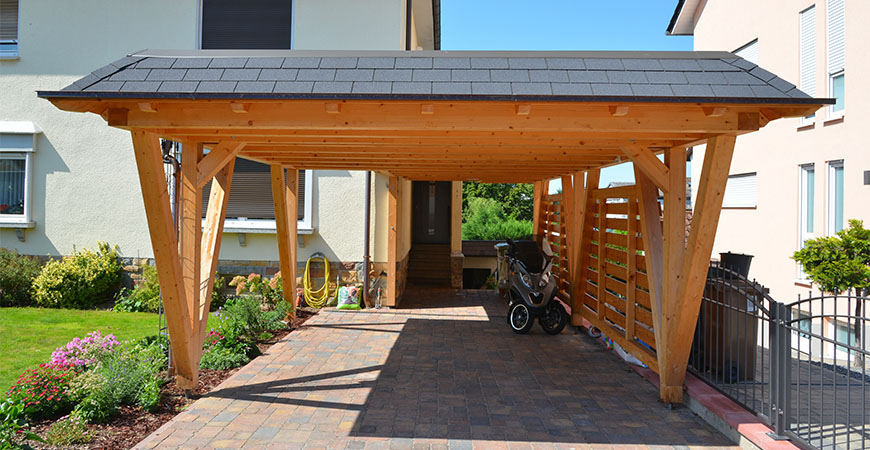 Outdoor covered structures such as a carport  can be mold and mildew-free with Wet & Forget!