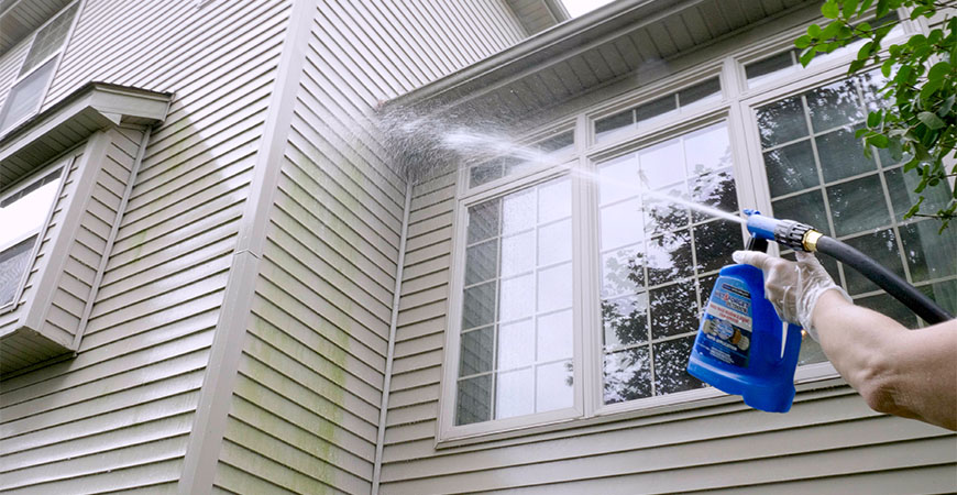 cleaning of your home's eaves