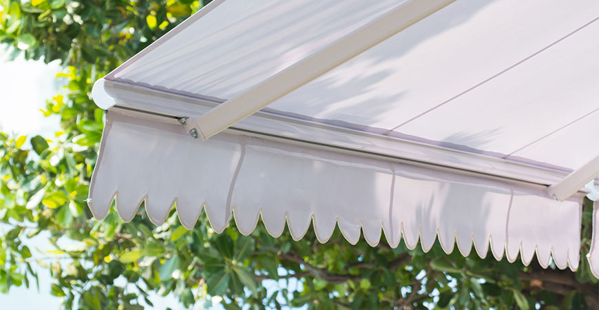 clean underside of an awning