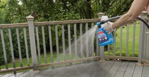 Easily clean your deck with Wet & Forget Hose End