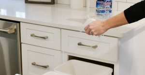 New year's cleaning couldn't be easier! Use Wet & Forget Indoor to clean up your trash bins.