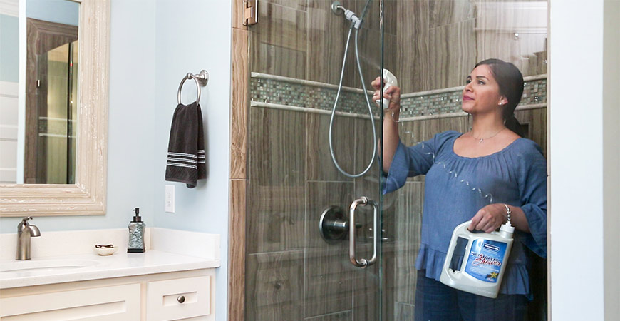 Cleaning your bathroom is a breeze with Wet & Forget Shower.