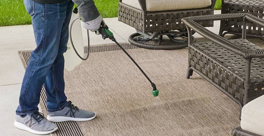 Clean your outdoor carpet  with Wet & Forget