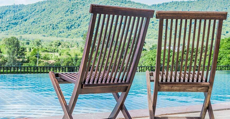 Poolside Wooden Outdoor Chairs