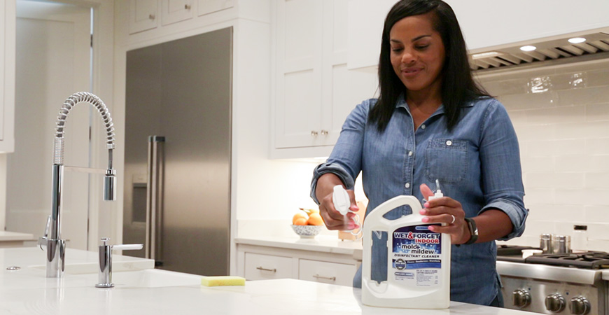 Disinfect your countertops with Wet & Forget Indoor