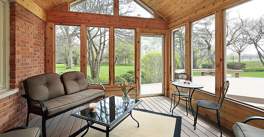 no more view-blocking stains on a screened in porch