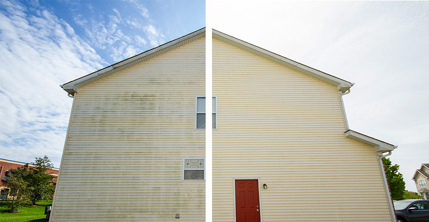 Clean your second story siding with Wet & Forget Xtreme Reach Hose End!