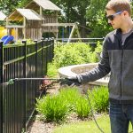 Apply Wet & Forget to your metal fencing