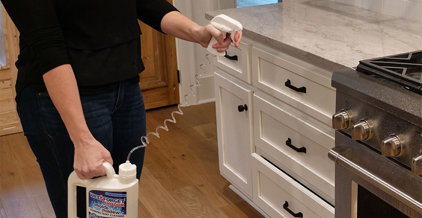 Disinfect stove knobs this Thanksgiving with Wet & Forget Indoor