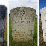 Gravestone before and after photos