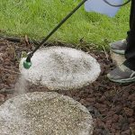 Use Wet & Forget to clean organic growth from patio stones!